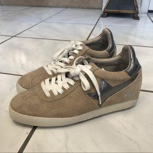 Ash Guepard Bis Sneakers in Camel and Gray, sz38